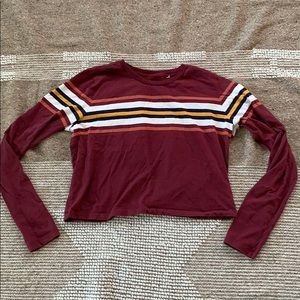 Crop top long sleeve from PacSun